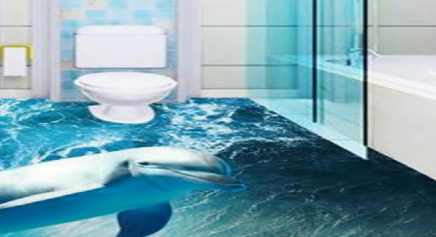 3Д полы в ванной комнате цены, устройство своими руками